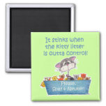 Kitty Litter Stinks 2 Inch Square Magnet