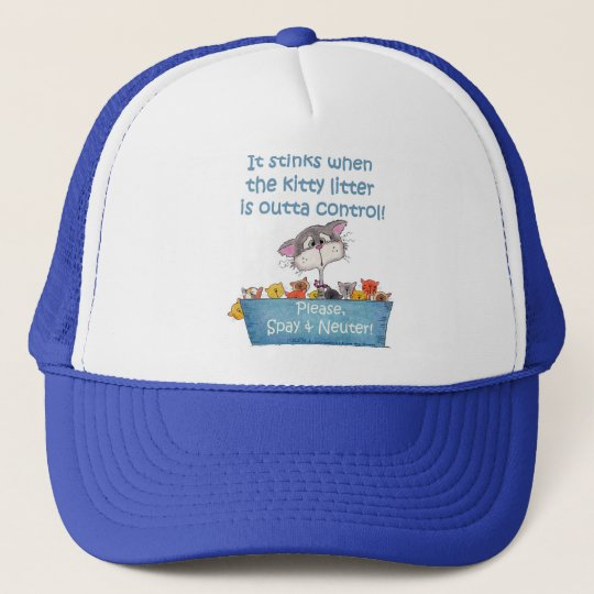 Kitty Litter Stinks Trucker Hat