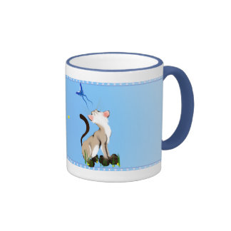 Kitty Looking At A Butterfly Mug