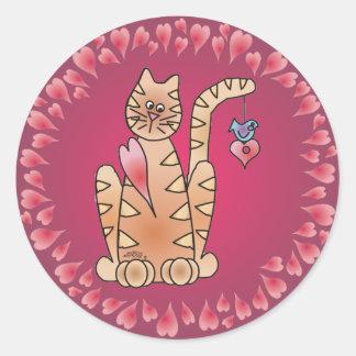 KITTY LOVE by SHARON SHARPE Sticker