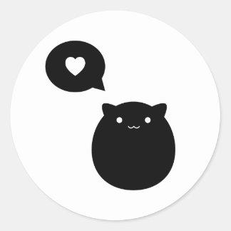 Kitty Love Classic Round Sticker