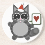 Kitty Love for the Holidays! Beverage Coasters