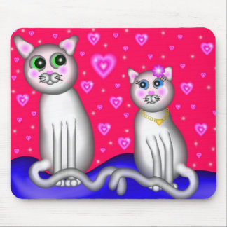 Kitty Love Mouse Pad