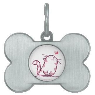 Kitty Love Pet Name Tag