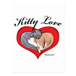 Kitty Love Postcard