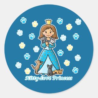Kitty-Love Princess Classic Round Sticker