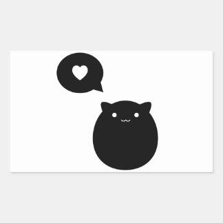 Kitty Love Rectangular Sticker