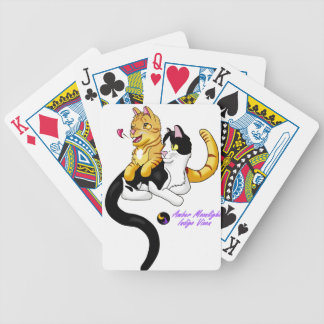 Kitty Love w logo Bicycle Playing Cards