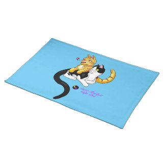 Kitty Love w logo Cloth Placemat