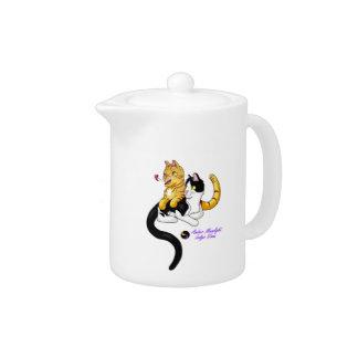 Kitty Love w logo Teapot