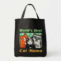 Kitty Lover's Cute Cat Mama Budget Tote Bag