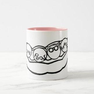 Kitty Loves Peas Two-Tone Coffee Mug