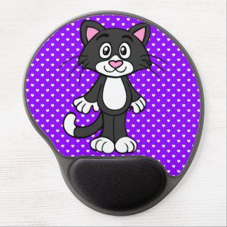 Kitty Loves Purple Gel Mouse Pad