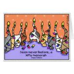 Kitty Menorah, Happy Holidays! Greeting Card