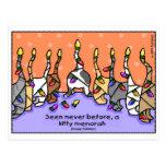 Kitty Menorah, Happy Holidays! Postcard