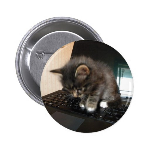 Kitty Mouse Button