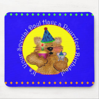 Kitty & Mouse Special Day Mouse Mat