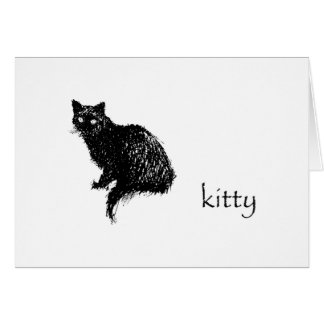 Kitty Note Card blank inside with envelope