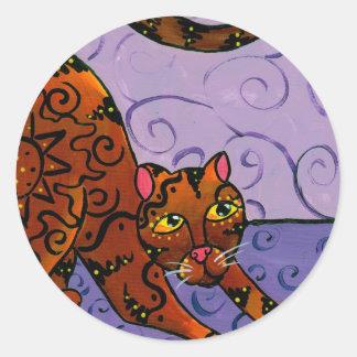 Kitty of the Rising Sun Classic Round Sticker