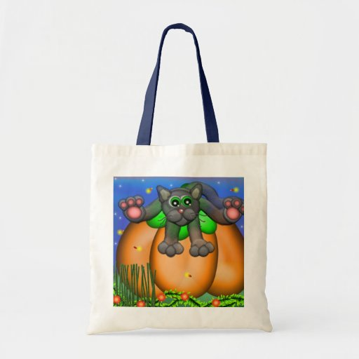 Kitty on a Pumpkin Budget Tote Tote Bag