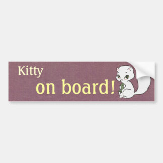 Kitty on Board Bumper Sticker