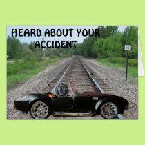 Kitty On the Tracks Card