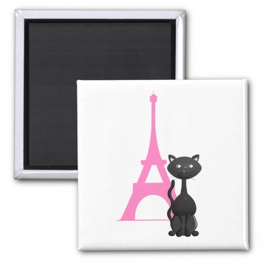 Kitty on vacation in Paris Magnet