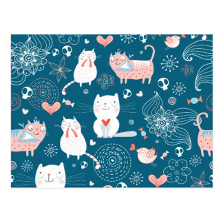 Kitty Pattern one Postcard