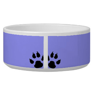 Kitty Paw-print bowl Dog Water Bowl