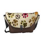 Kitty Paws (animal print)Rickshaw Messenger Bag