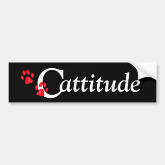 Kitty Paws Cattitude Bumper Sticker