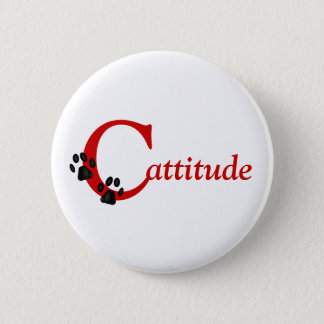 Kitty Paws Cattitude Button