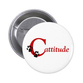 Kitty Paws Cattitude Button