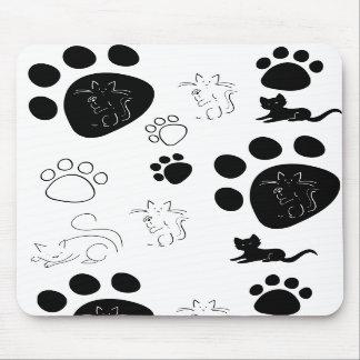 Kitty paws mousepad