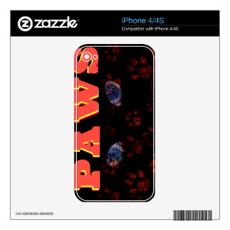 Kitty Paws Decals For The iPhone 4S