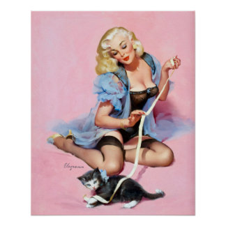 Kitty Pin Up Posters