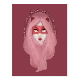 kitty.pink.power postcard