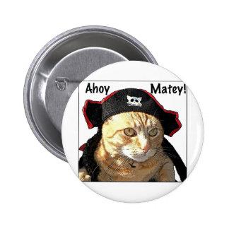 Kitty Pirate 2 Inch Round Button