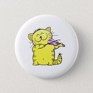 Kitty Play Violin Button