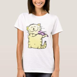 Kitty Play Violin T-Shirt