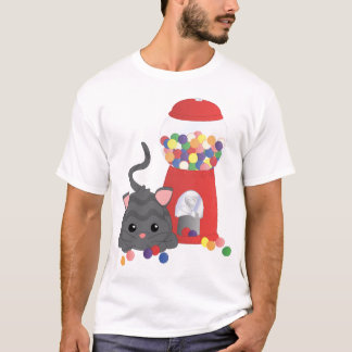 Kitty Playing with Gumballs T-Shirt