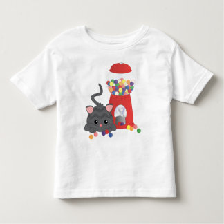 Kitty Playing with Gumballs Tee Shirt