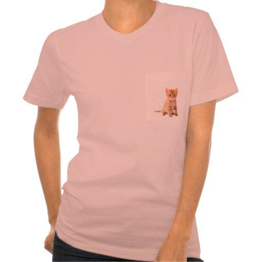 Kitty pocket tee shirts zazzle for Frat pocket t shirts