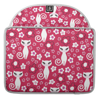 Kitty Power Floral Sleeve For MacBooks