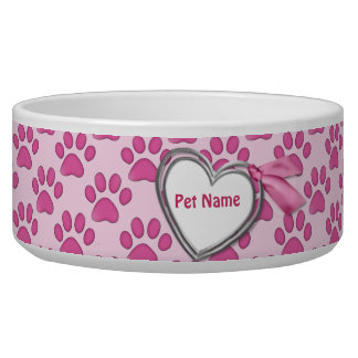 Kitty Prints Pink Cat Dish - Customize