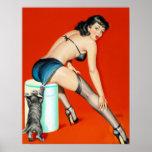 Kitty Pulp Pin Up Poster