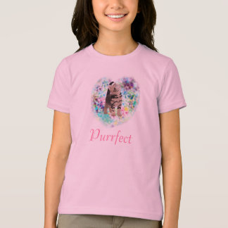 Kitty Purrfect Girl's Ringer tee shirt
