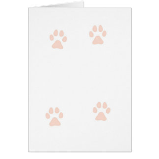 Kitty Pussy Cat Paw Prints Card