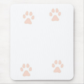 Kitty Pussy Cat Paw Prints Mousepads