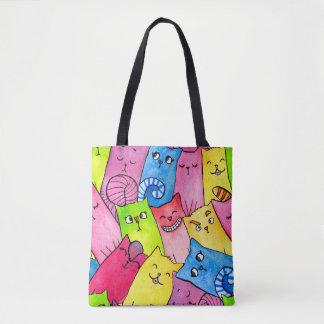 Kitty Rainbow Tote Bag